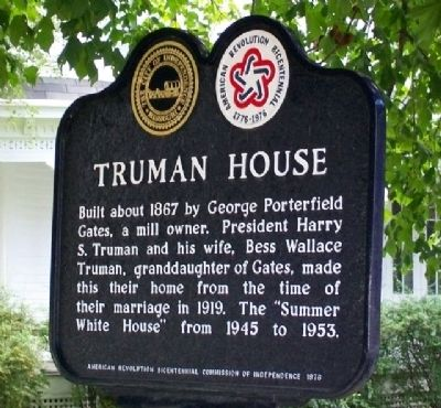 Truman House Marker image. Click for full size.