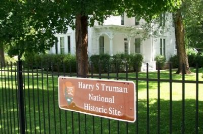 Truman House National Historic Site Marker image. Click for full size.