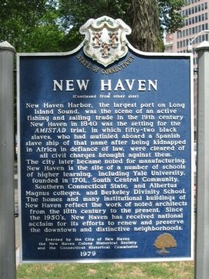 New Haven Marker image. Click for full size.