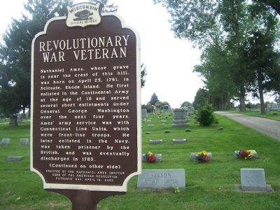 Revolutionary War Veteran Marker, side one image. Click for full size.