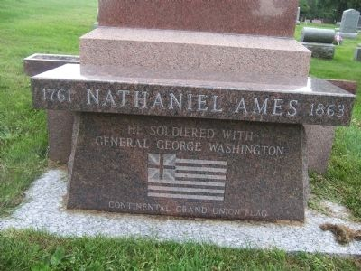 Detail of Revolutionary War Veteran Grave Monument image. Click for full size.