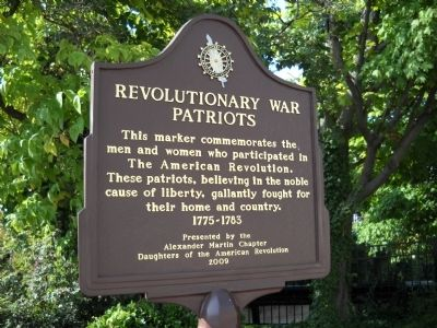 Revolutionary War Patriots Marker image. Click for full size.