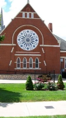 First Presbyterian Church and Marker image. Click for full size.