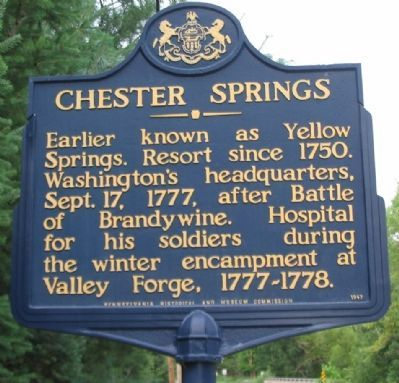 Chester Springs Marker image. Click for full size.