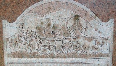 Here the Oregon Trail Began Marker Detail image. Click for full size.