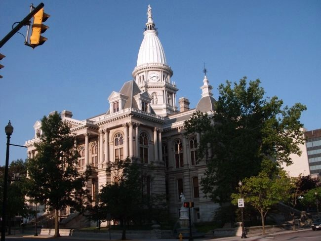 North / East Corner - - Tippecanoe County Courthouse image. Click for full size.