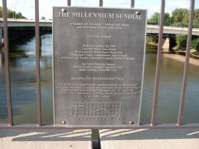 "Construction and Instruction Plaque of "" Millennium Sundial "" image. Click for full size."