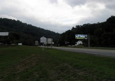 Wide view of the West Virginia / Giles County Virginia Marker image. Click for full size.