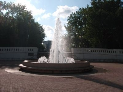 """Sonya L. Margerum - Fountain"" - - West Lafayette Side of Pedestrian Bridge image. Click for full size."
