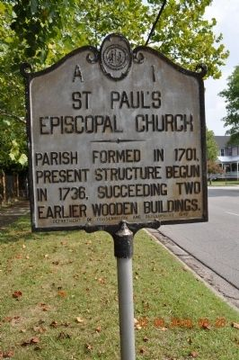 ST Paul's Episcopal Church Marker image. Click for full size.