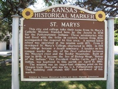 St. Mary's Marker image. Click for full size.