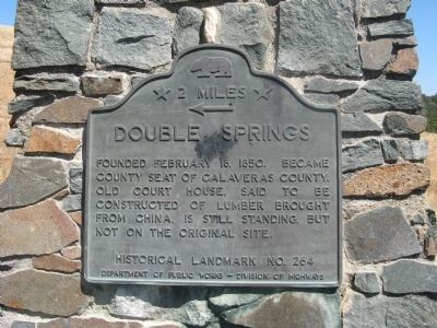 Double Springs Marker image. Click for full size.