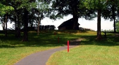 Reconstructed Stockade Fort from the Walking Path image. Click for full size.