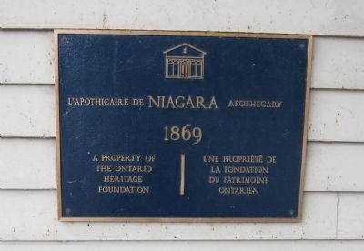 Niagara Apothecary Commemorative Plaque image. Click for full size.