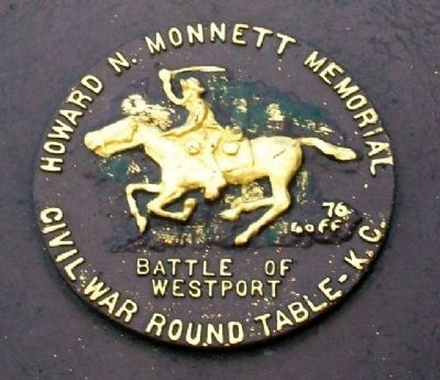 Monett Civil War Rountable Logo on Marker image. Click for full size.