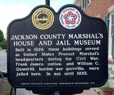 Jackson County Marshal's House and Jail Museum Marker image. Click for full size.