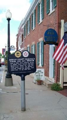 Jackson County Marshal's House & Jail Museum & Marker image. Click for full size.