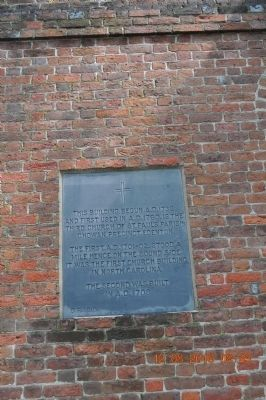 ST Paul's Episcopal Church Marker (on side of church building) image. Click for full size.