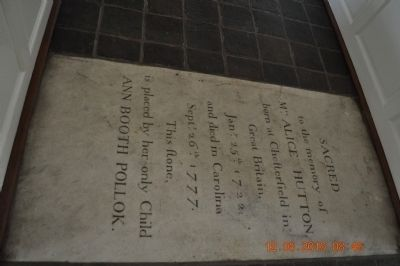 ST Paul's Episcopal Church (tombstone Marker inside church) image. Click for full size.