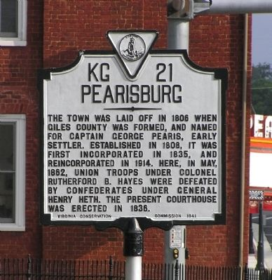 Pearisburg Marker image. Click for full size.
