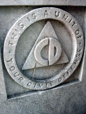 Lower - Left - Seal on the Base of the 1976 Dedication Statue image. Click for full size.