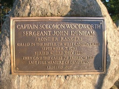 Captain Solomon Woodworth & Sergeant John Dunham Marker image. Click for full size.