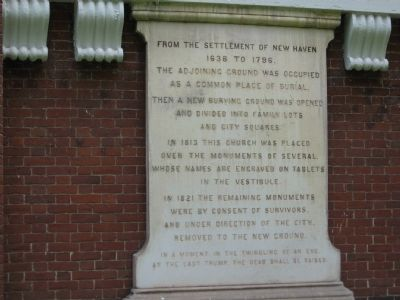 New Haven Common Burial Ground Marker image. Click for full size.