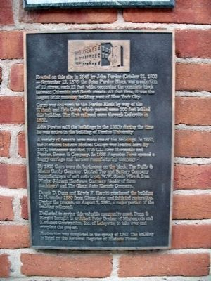 Lower Plaque - John Purdue Block Marker image. Click for full size.