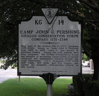 Camp John J. Pershing Marker image. Click for full size.