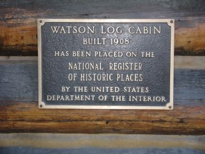 The Watson Cabin HRHP Plaque image. Click for full size.