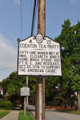 Edenton Tea Party Marker image. Click for full size.