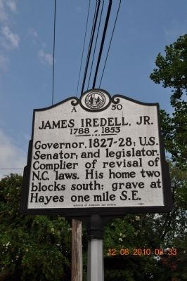James Iredell, Jr Marker image. Click for full size.