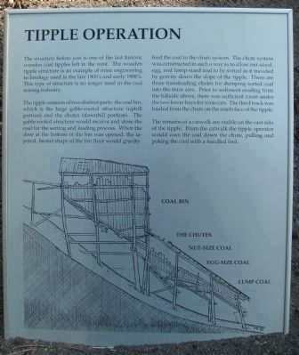 Related Marker: Tipple Operation image. Click for full size.