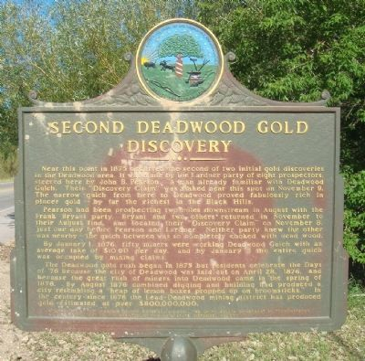 Second Deadwood Gold Discovery Marker image. Click for full size.