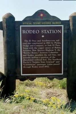 Rodeo Station Marker image. Click for full size.