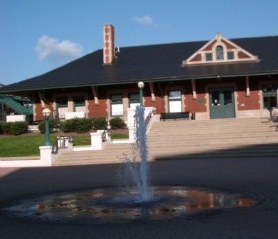 Water Fountain - Big Four Train Depot in Lafayette, Indiana image. Click for full size.