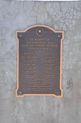 Plaque on north face of Memorial image. Click for full size.