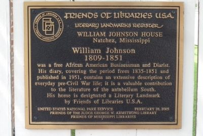 William Johnson House Marker image. Click for full size.