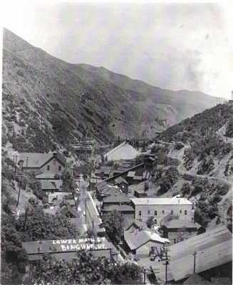 Lower Main Street of Bingham Canyon image. Click for full size.