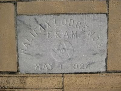 Halifax Lodge No. 81 Cornerstone image. Click for full size.