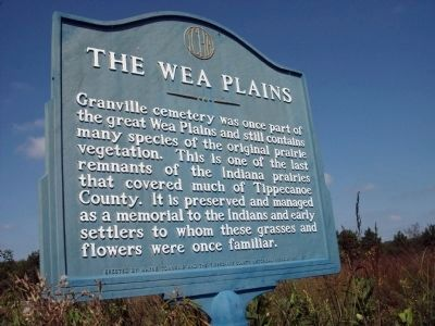 The Wea Plains Marker image. Click for full size.