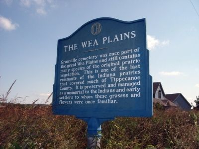Obverse View - - The Wea Plains Marker image. Click for full size.