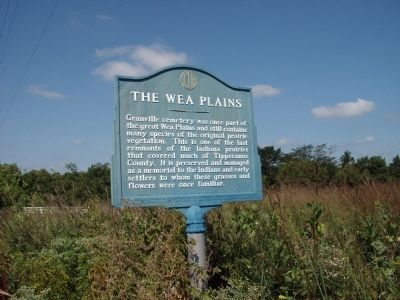 Wide View - - The Wea Plains Marker image. Click for full size.