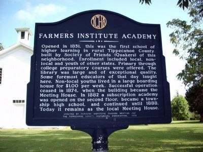 Farmers Institute Academy Marker image. Click for full size.