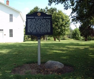 Wide View - - Farmers Institute Academy Marker image. Click for full size.