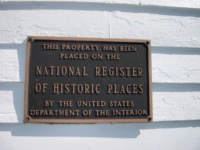 On National Register of Historic Places - Plaque image. Click for full size.