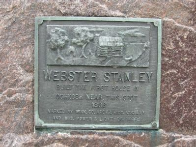 Webster Stanley Cabin Marker image. Click for full size.
