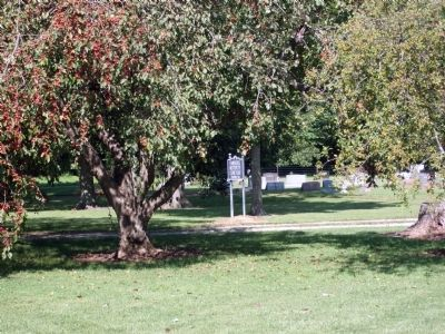 "Other View - - ""Farmers Institute Cemetery"" Sign image. Click for full size."