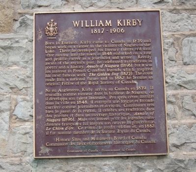 William Kirby Marker image. Click for full size.
