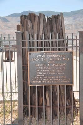 Remnant of Stamp Mill Foundation image. Click for full size.
